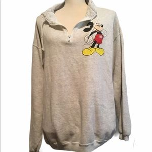 Disney Mickey Mouse sweatshirt zipper grey…